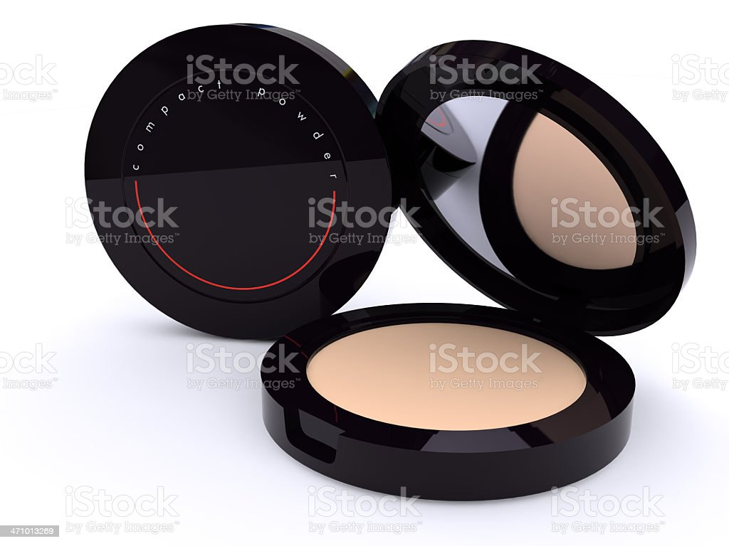 Compact powder royalty-free stock photo