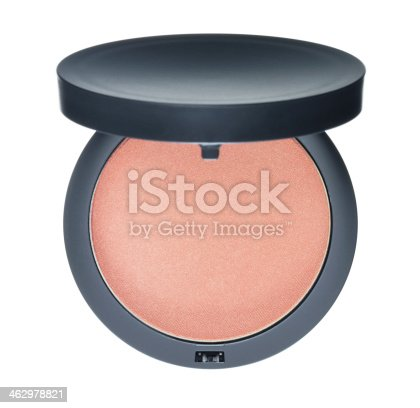 Compact foundation powder on white background.