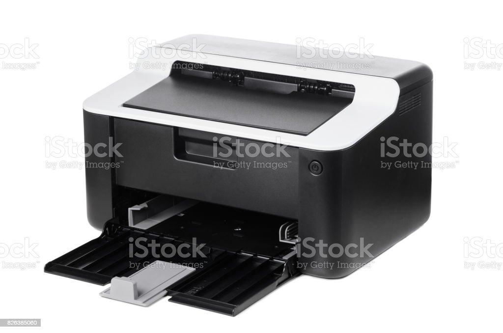 Compact printer isolated stock photo