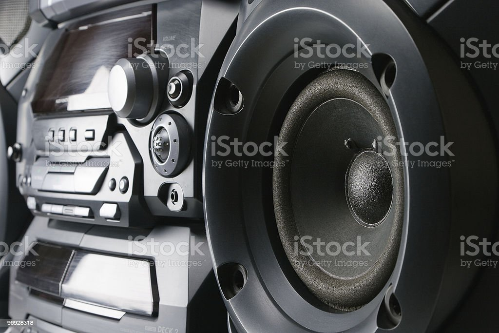 Compact stereo system royalty-free stock photo