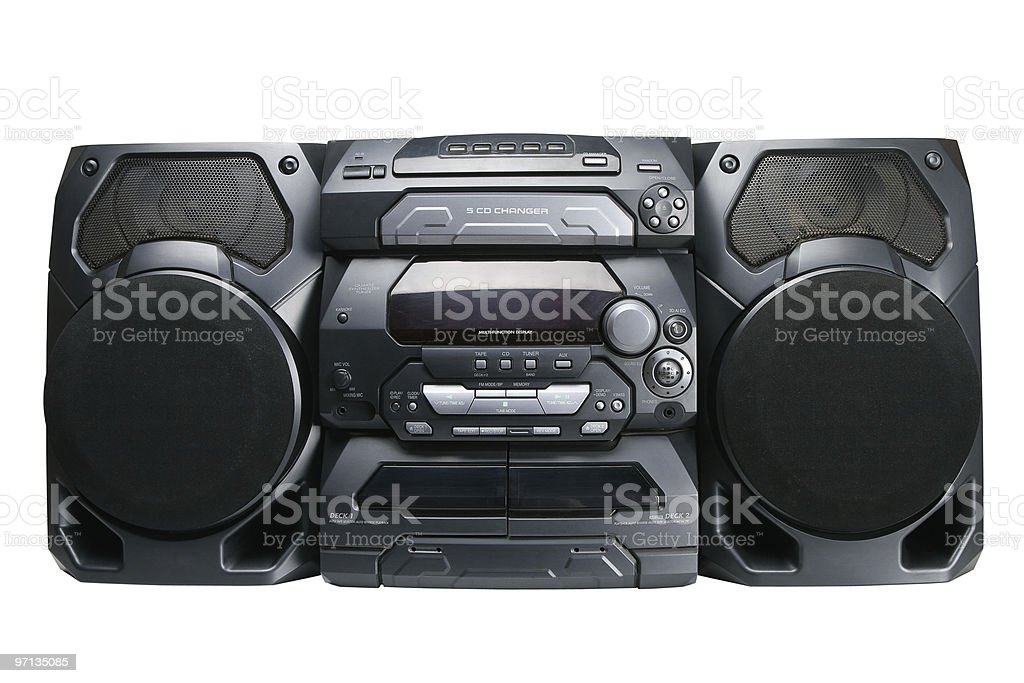 Compact stereo system stock photo