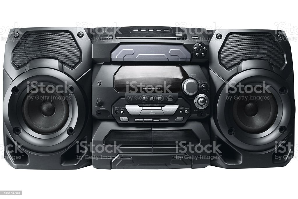 Sistema stereo compatto foto stock royalty-free