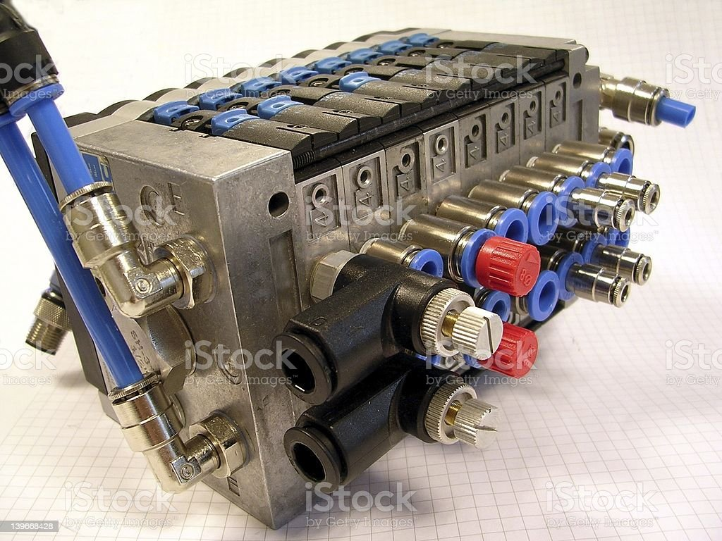 Compact valve block royalty-free stock photo