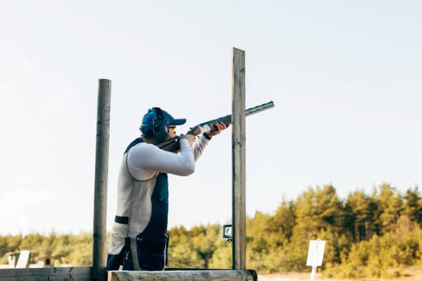Compak shooting stock photo