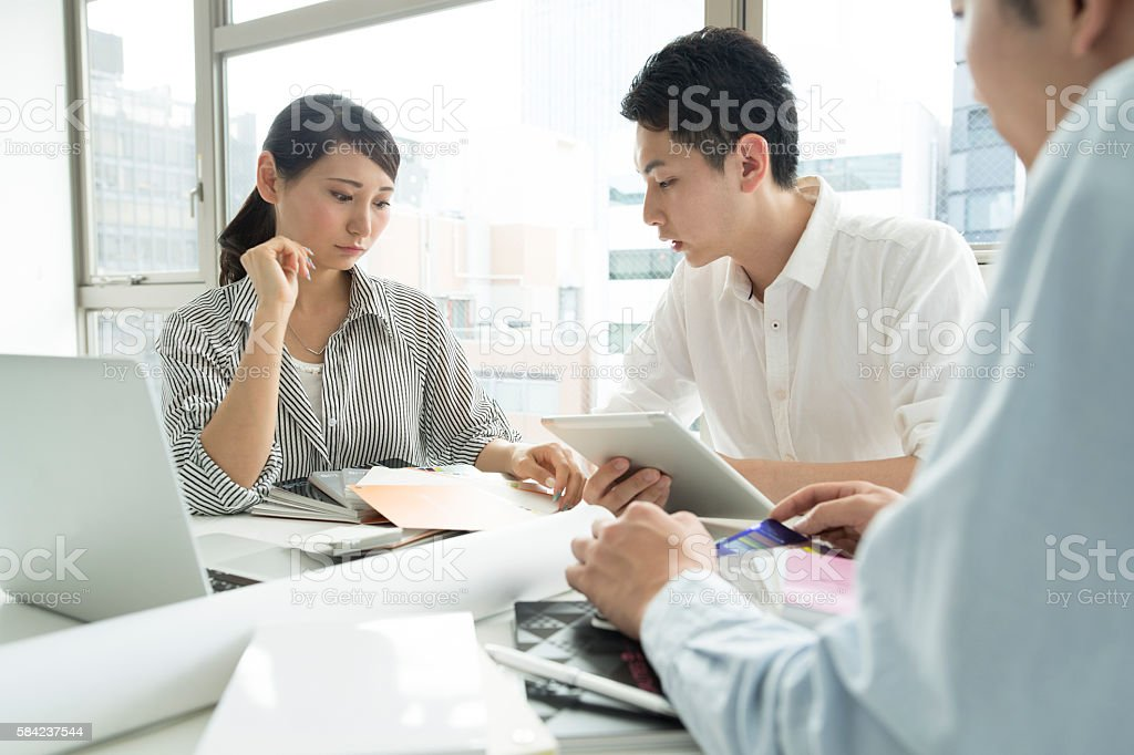 Companies that gather people that can work. stock photo