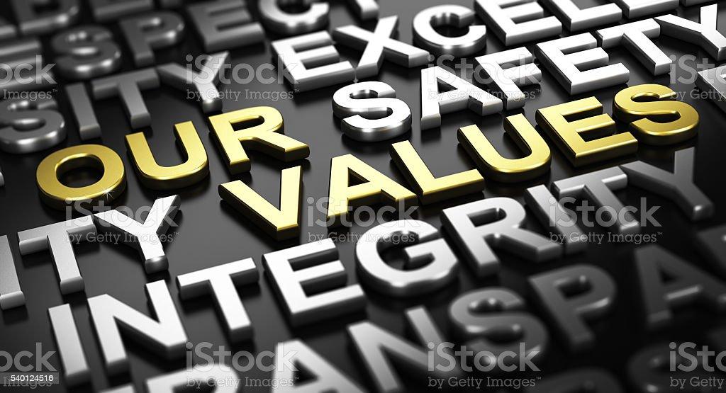 Company Core Values stock photo