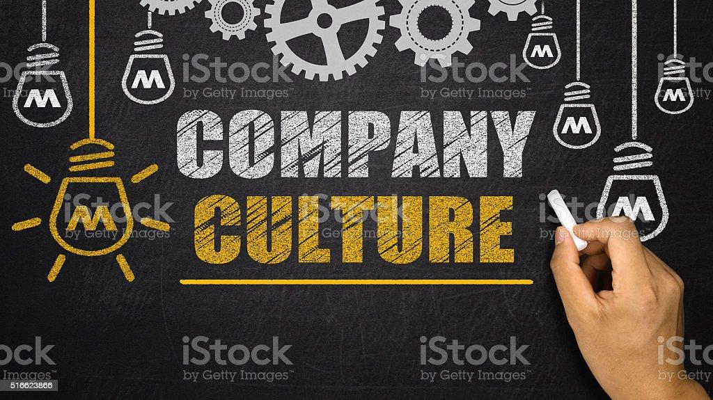 Company Culture concept on blackboard stock photo
