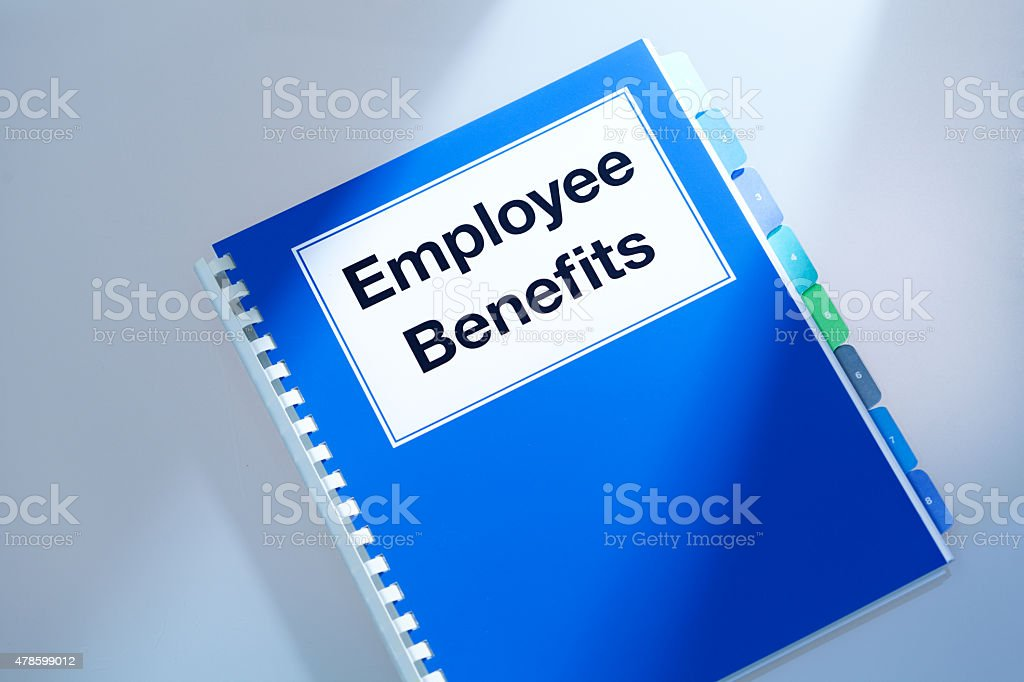 ... Company Employee Benefits Manual Opening To Outline Employment  Occupation Package Stock Photo
