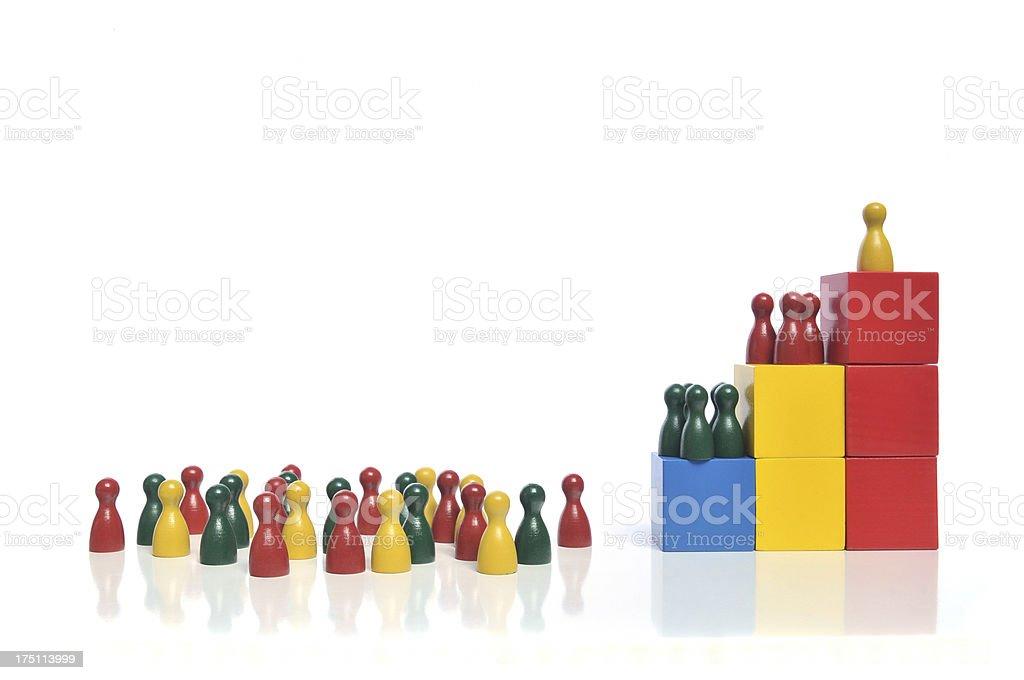 Company Hierarchy royalty-free stock photo