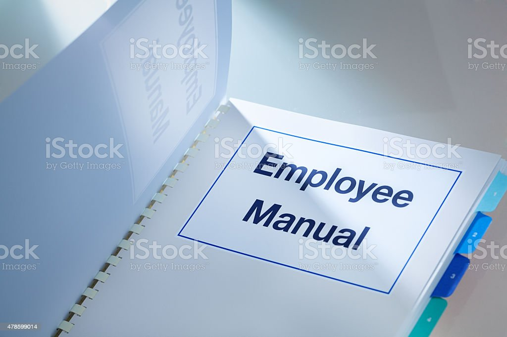 Company Human Resource Employee Manual for Recruitment and Employment stock photo