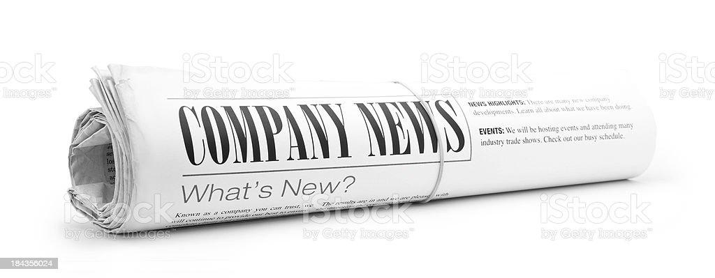News zum Unternehmen - Lizenzfrei Druckerzeugnis Stock-Foto