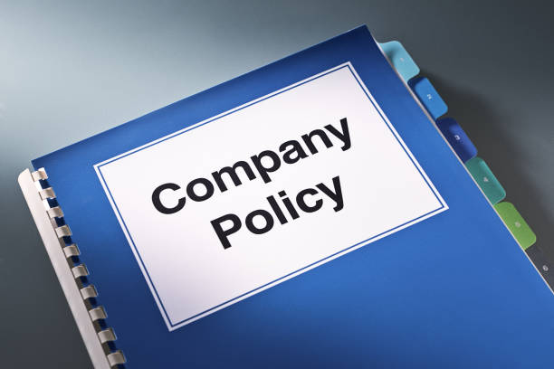 A Company Policy Plan Document Manual Book Still Life stock photo