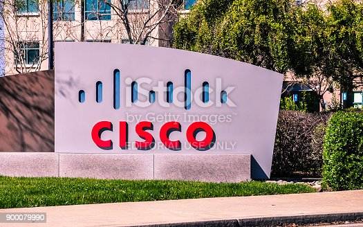 San Jose, CA - Mar. 12, 2017: CISCO Systems. Headquartered in San Jose, CA, in the center of Silicon Valley, CISCO Systems is an American multinational high technology company.