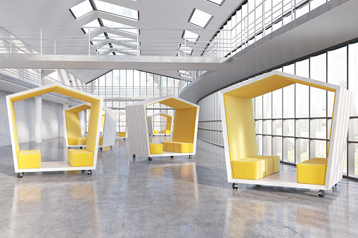 Companys Lobby Stock Photo - Download Image Now