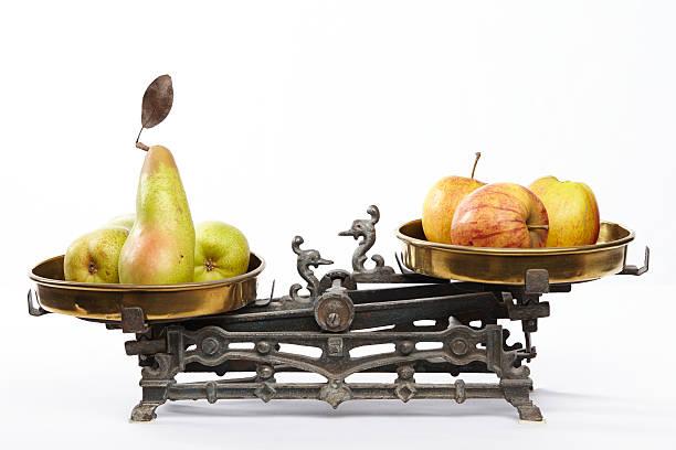 Äpfel und Birnen vergleichen – Foto