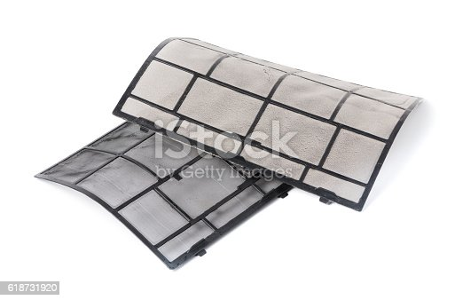 931591820 istock photo compare dirty and after clean air condition filter 618731920