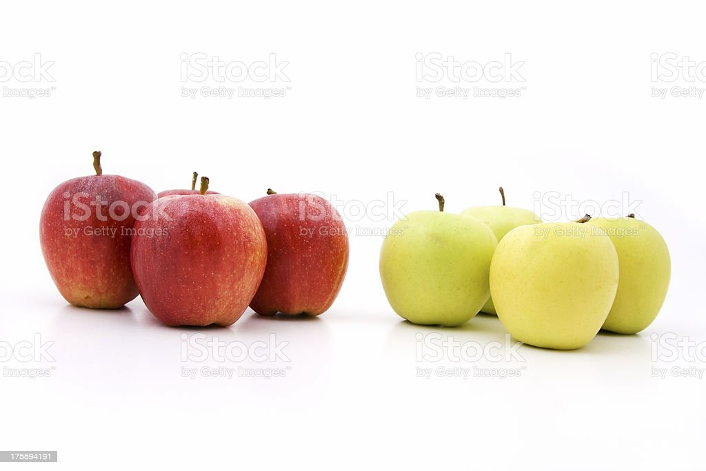 Comparing apples royalty-free stock photo
