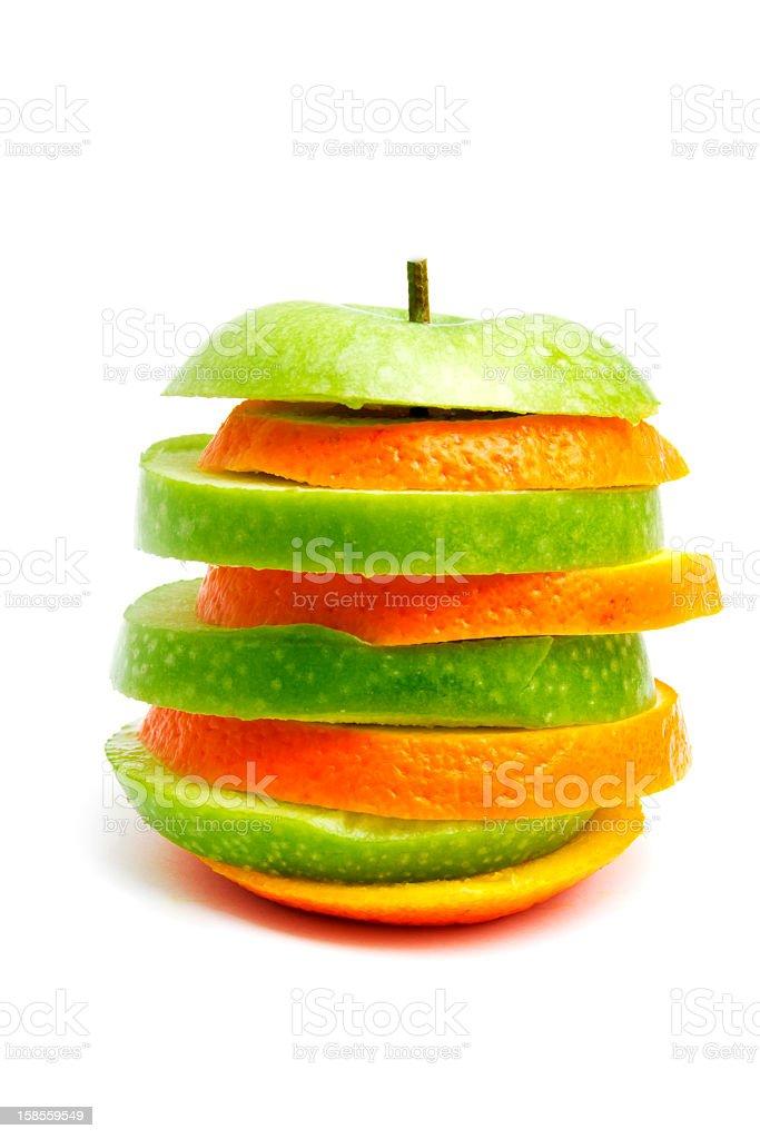 비교하기 위해 오렌지 사과들 royalty-free 스톡 사진