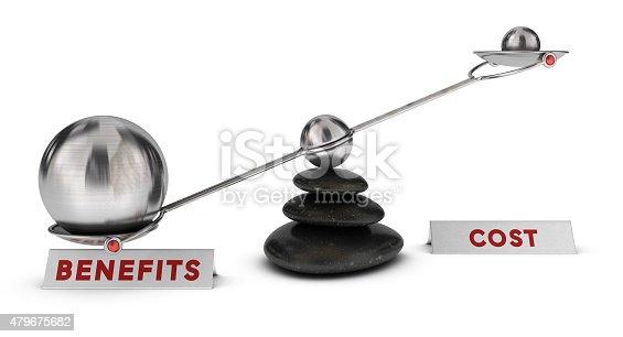 istock Comparison cost vs benefits 479675682