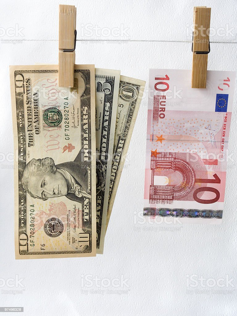 Comparison of exchange rates royalty-free stock photo