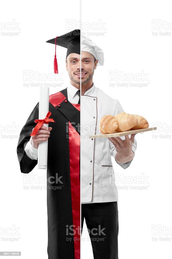 Vergleich der Universität Absolvent und Küchenchefs Outlook. – Foto