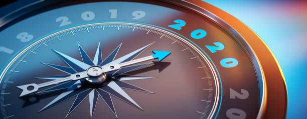 Compass 2020 stock photo