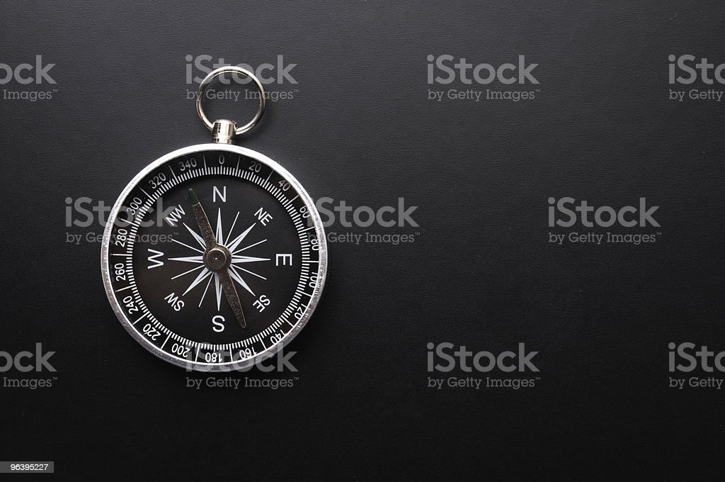 compass and copyspace - Royalty-free Black Color Stock Photo
