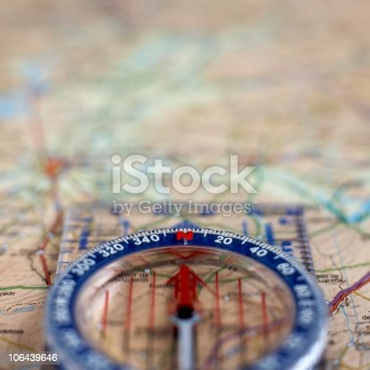 istock Compass and map 106439646