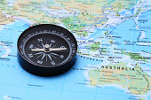 istock Compass and Map 185212545