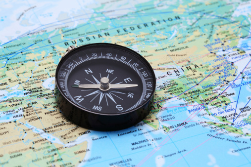 istock Compass and Map 185307404
