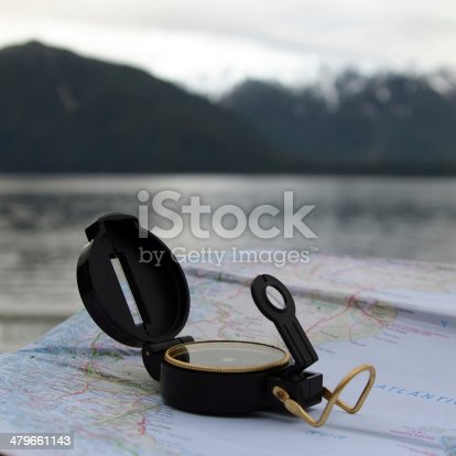 istock Compass and Map 479661143