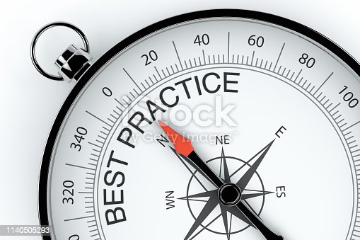 istock Compass Arrow Pointing to Best Practice 1140505293