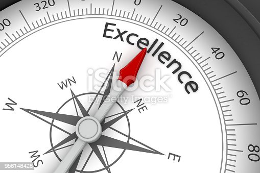 836284468 istock photo Compass Arrow Pointing to Excellence 956148428