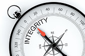 Compass Arrow Pointing to Integrity