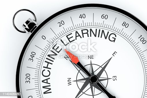 539953610istockphoto Compass Arrow Pointing to Machine Learning 1140405480