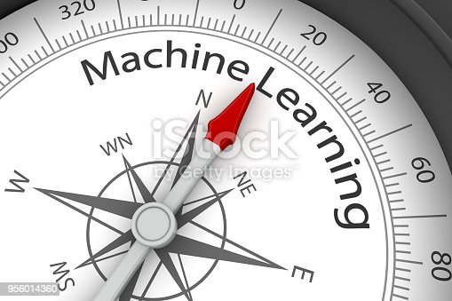 539953610istockphoto Compass Arrow Pointing to Machine Learning 956014360