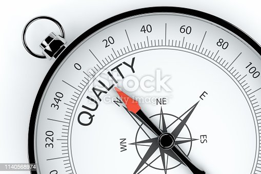 836284468 istock photo Compass Arrow Pointing to Quality 1140568974
