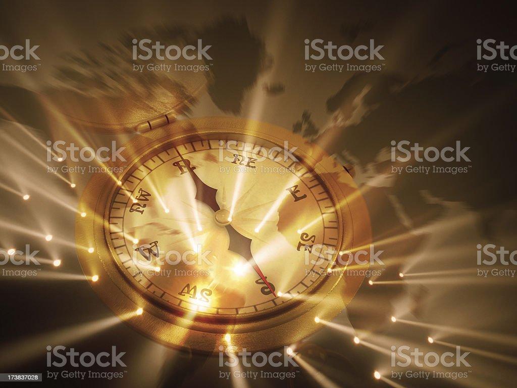 Compass background stock photo
