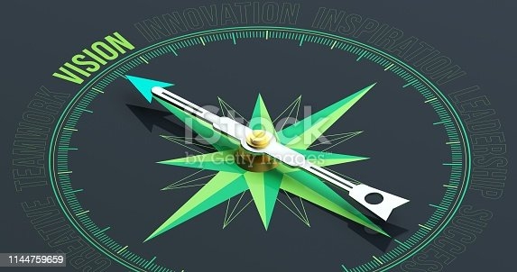859525326 istock photo VISION Compass Concept 3D Rendering 1144759659