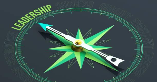 leadership compass concept 3d rendering - leadership photos et images de collection