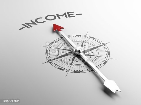istock Compass Concept with the red needle pointing 683721762