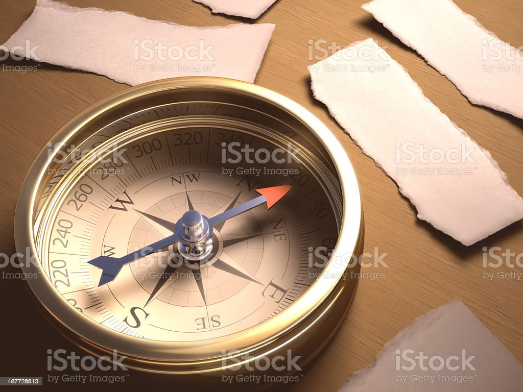 Compass Decision royalty-free stock photo