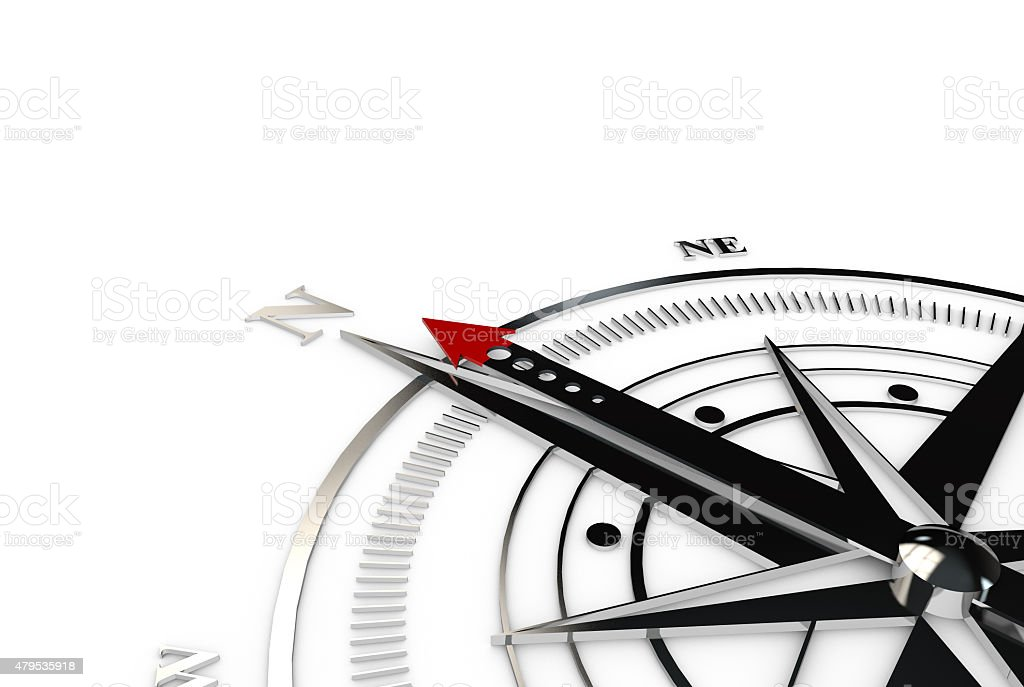 Compass direction stock photo