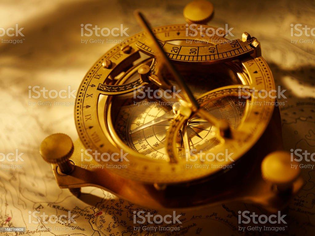 Compass for Nautical Navigation stock photo