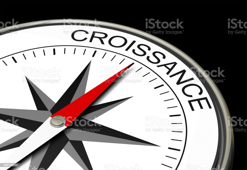 compass growth 3D stock photo