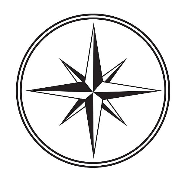 compass icon - clip art stock photos and pictures