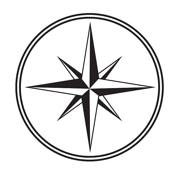 Compass icon stock photo