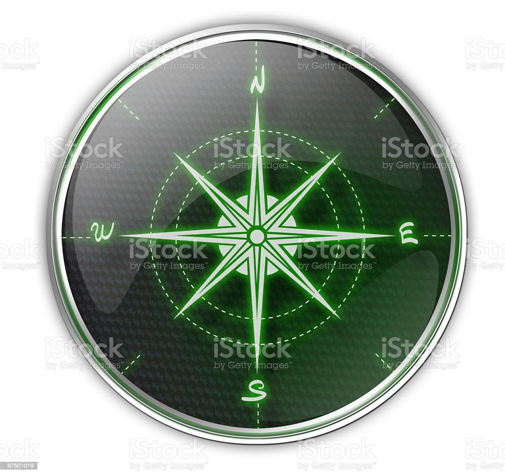 Compass Icon royalty-free stock photo