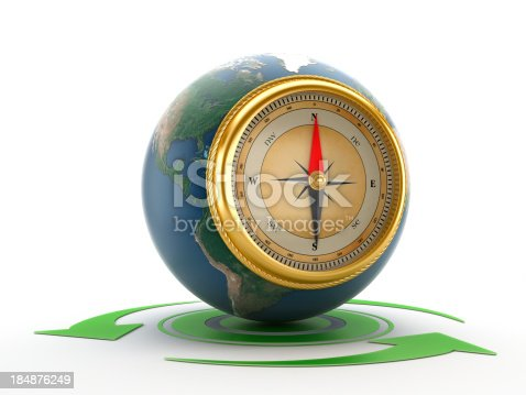 187602778 istock photo Compass in earth 184876249