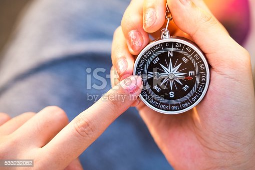 537607438istockphoto Compass in the hand. 533232082